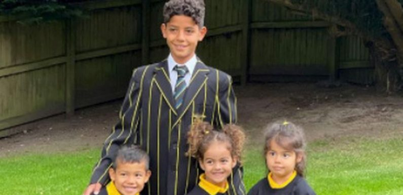 Cristiano Ronaldo's kids start school in Manchester and pose for adorable snaps