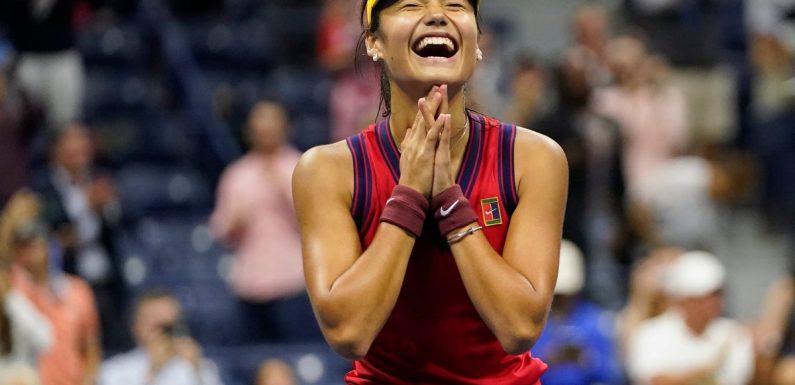 Emma Raducanu reaches US Open final with straight sets defeat of Maria Sakkari