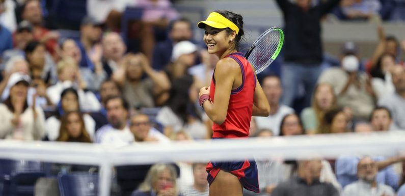Emma Raducanu reaches US Open final with stunning victory over Maria Sakkari
