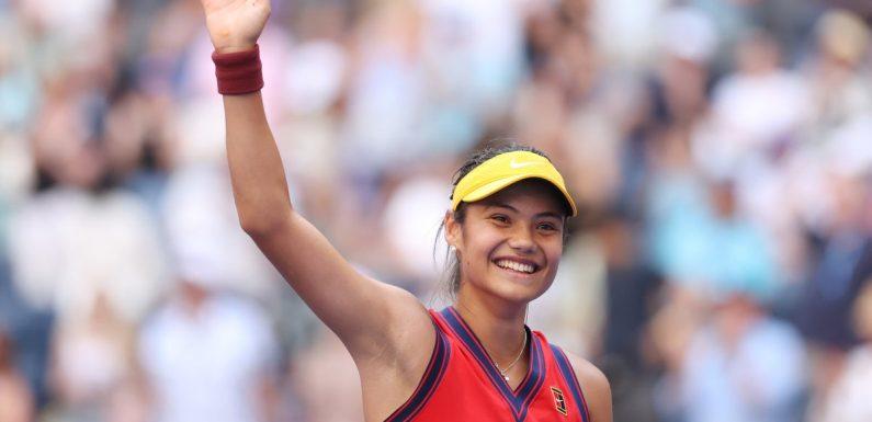 Emma Raducanu reaches US Open quarter-finals after thrashing USA's Shelby Rogers