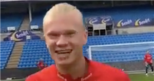 Erling Haaland training goal goes viral showing Dortmund star's incredible power