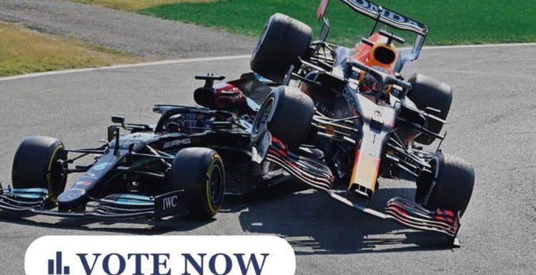 F1 POLL: Was Max Verstappen to blame for Lewis Hamilton crash? Was his punishment fair?