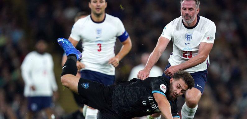 Fans slam Jamie Carragher's behaviour at Soccer Aid 2021 – including kick-out
