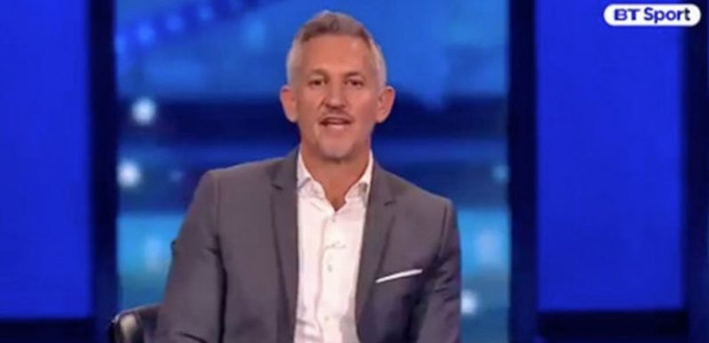 Gary Lineker sends message to BT Sport after leaving Champions League coverage