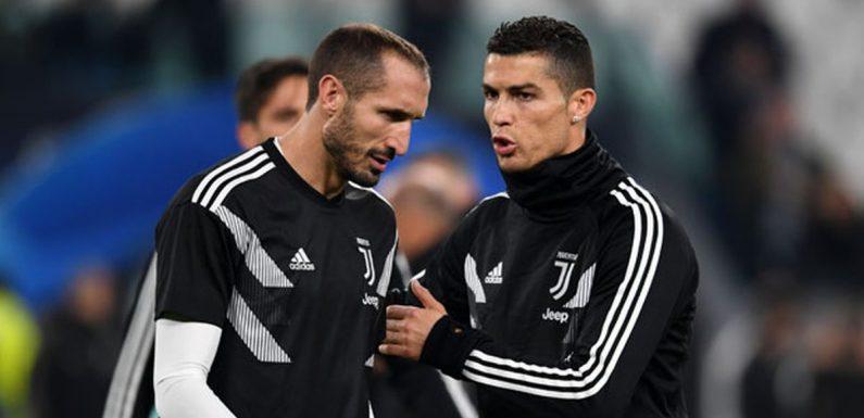 Giorgio Chiellini makes Cristiano Ronaldo remark after Juventus' dreadful start
