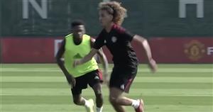 Hannibal Mejbri dazzles during Ronaldo's first Man Utd training session
