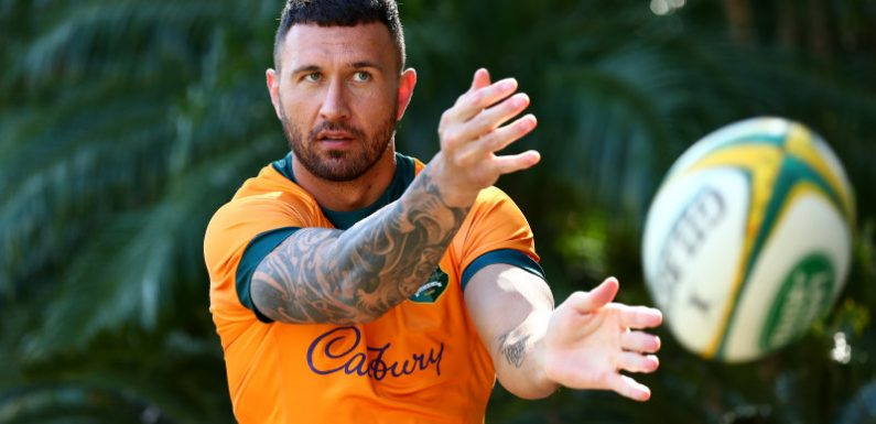He's back: Quade Cooper to wear Wallabies No.10 jersey against Springboks