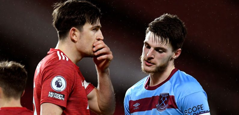 Man Utd chiefs 'talk framework' for Declan Rice with West Ham star prioritised