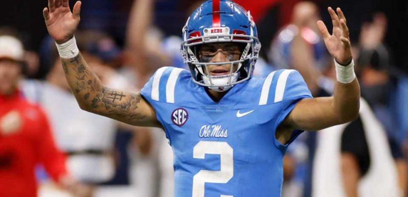 NFL Draft 2022 prospect watch: Matt Corral, Ohio State WRs rise; Sam Howell falls after Week 1