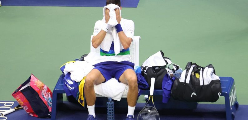 Novak Djokovic breaks down before losing US Open and historic Grand Slam bid