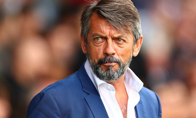 ON THE ROAD: Phil Brown believes the only way is up