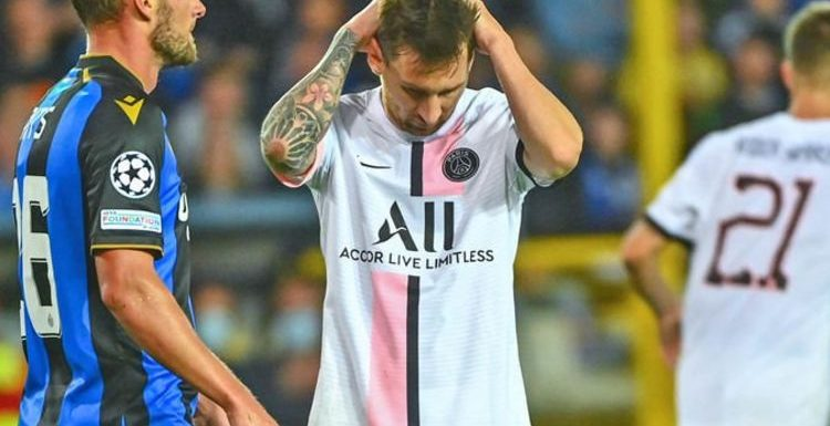 PSG and Lionel Messi mocked by Club Brugge star Simon Mignolet after Champions League draw