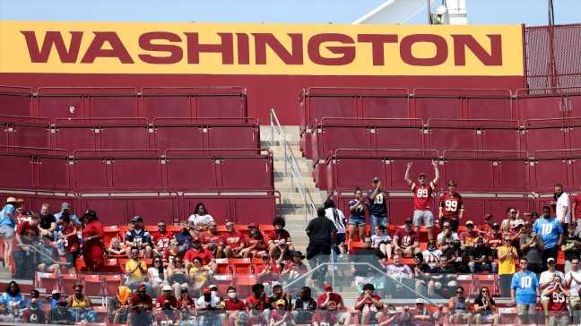 Pipe bursts overhead at FedEx Field, soaking Washington Football Team fans