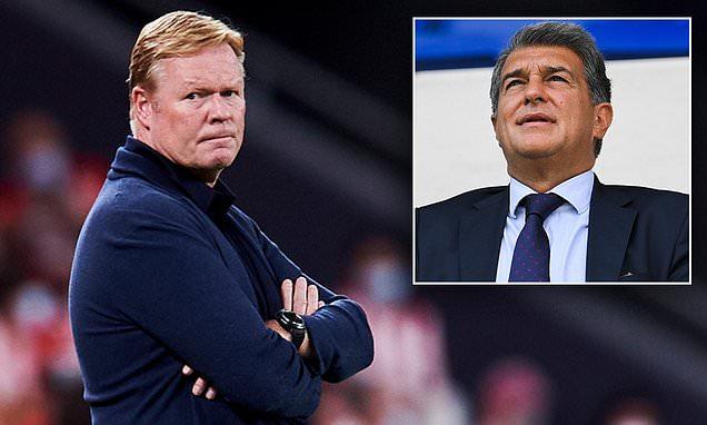 Ronald Koeman continues war of words with Barcelona president Laporta
