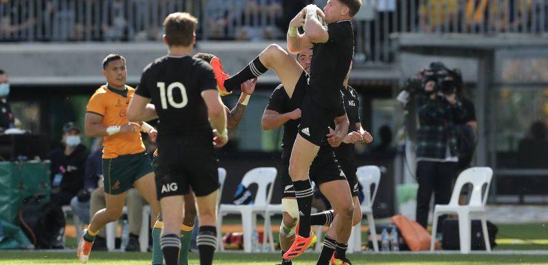 Rugby: All Black Jordie Barrett sent off for reckless play against Wallabies
