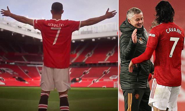 Solskjaer praises Cavani for handing his iconic No 7 shirt to Ronaldo
