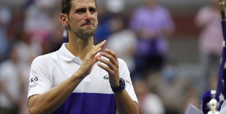 Tennis: Djokovic tearful but feels 'relief' after bid for calendar Grand Slam falls short