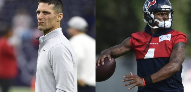 Texans GM Nick Caserio doesn't expect Deshaun Watson to play Week 1: 'We'll recalibrate as we go'