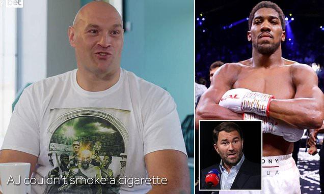 Tyson Fury tells Gary Neville he will 'ANNIHILATE' Anthony Joshua