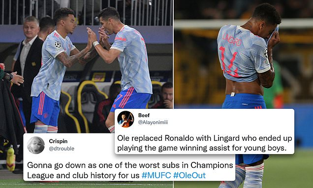 United fans fume at decision to replace Ronaldo with Lingard