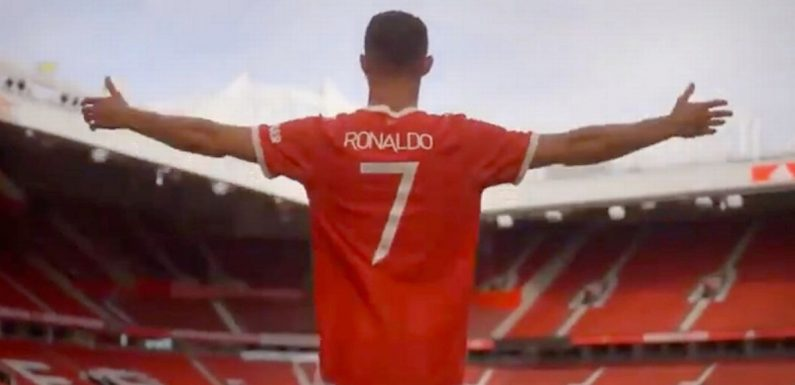 United release incredible video of Ronaldo returning to Old Trafford in full kit