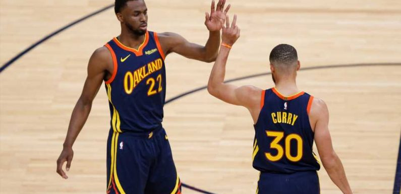 Warriors Stephen Curry doesnt sound too happy about Andrew Wiggins vaccination status