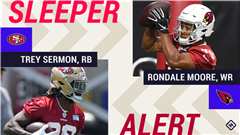 Week 2 Fantasy Sleepers: Trey Sermon, Rondale Moore among players on the start-or-sit bubble