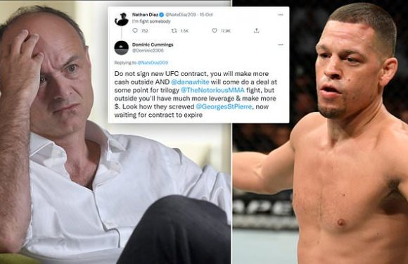 Diaz told NOT to sign new UFC deal by Dominic Cummings (yes that one)