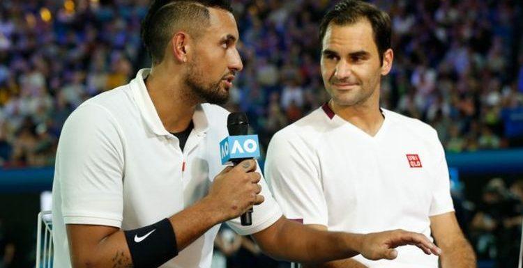 Nick Kyrgios shares amusing Roger Federer vs Novak Djokovic debate with Uber Eats driver